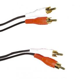 Cablu 2 RCA - 2 RCA 1.5M Gold