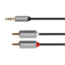Cablu Jack 3,5 / 2x RCA 1M K&M Gold