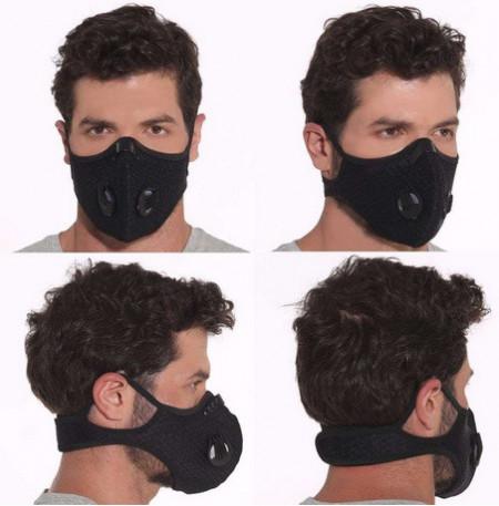 Poze Masca de Protectie cu Filtru de Carbon, 2 Valve