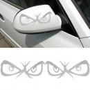 Sticker ochi pt oglinda auto/laptop