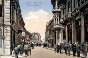 Poze Craiova, 1923, Hotel Minerva, poster 595 x 420 mm
