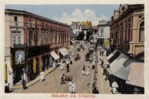 Poze Craiova, 1917, Rascruciul mic, poster 595 x 420 mm