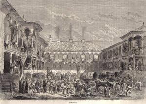 Poze Bucuresti, 1861, Hanul Manuc, poster 595 x 420 mm