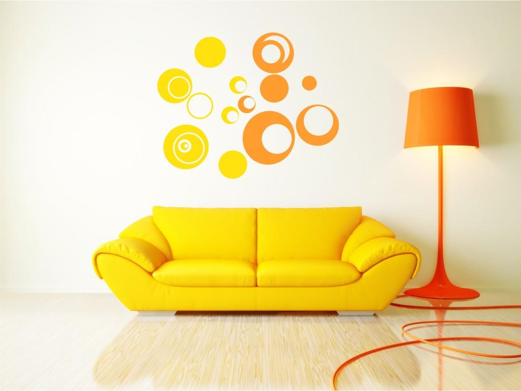 Circular decor for Sofa 70 cm de fondo