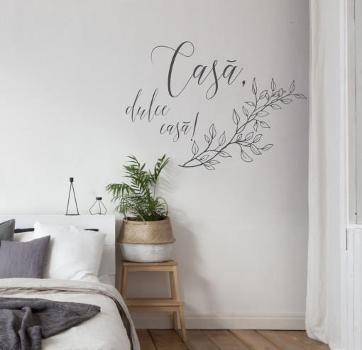 Casa, dulce casa! 90cm x 60cm Portocaliu rosiatic, Negru