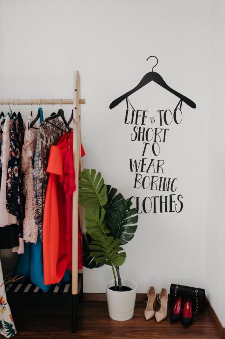 Life is too short...- sticker decorativ
