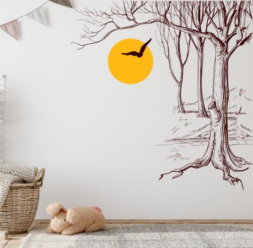 Amurg-sticker decorativ