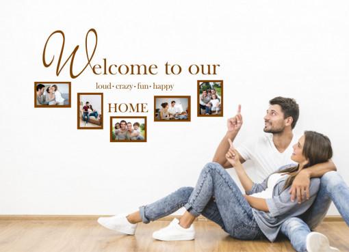 Familie fericita - sticker decorativ