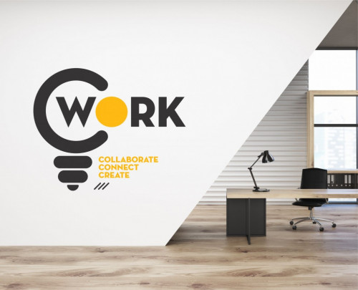 Poze Work - sticker decorativ pentru birou