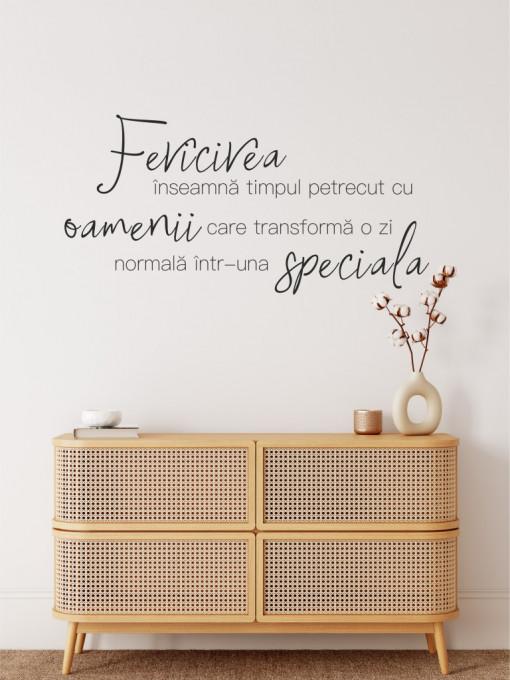 Fericire si oameni speciali - sticker decorativ