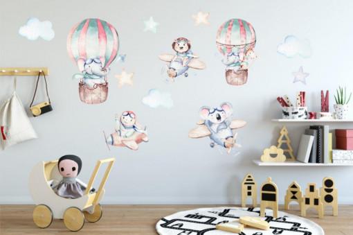 Sticker perete copii - În zbor...
