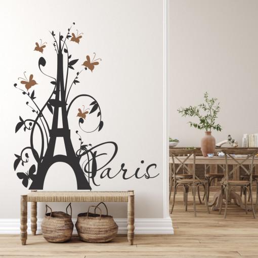 Turnul cu fluturi- sticker decorativ