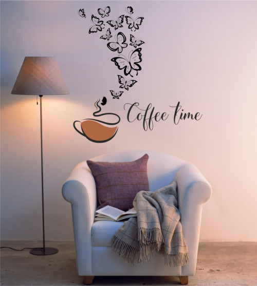 Coffee time with butterflies