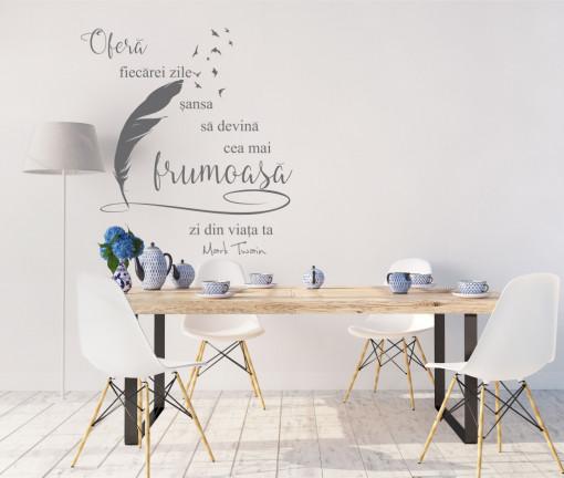Poze Frumusetea fiecarei zile - sticker decorativ text