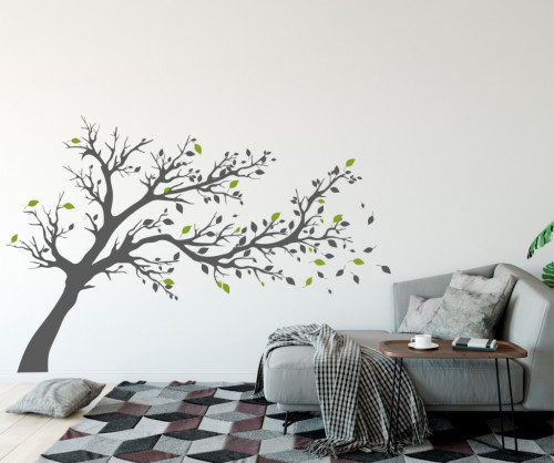 Poze Copacul cu frunze colorate - sticker decorativ