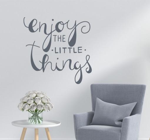 Enjoy little things-sticker decorativ