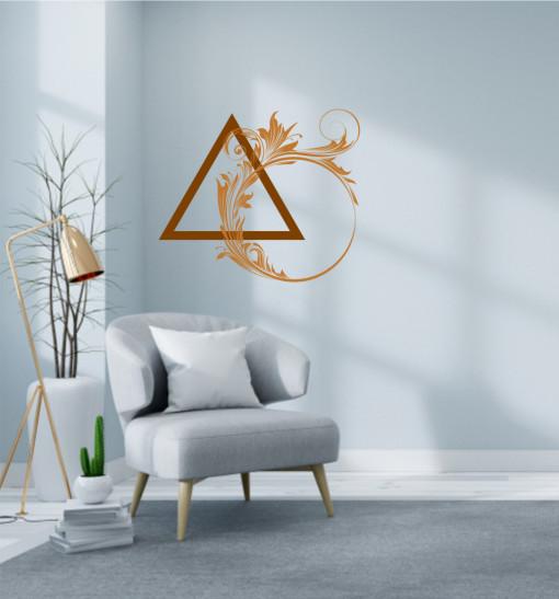 Triunghiul cu flori - sticker decorativ