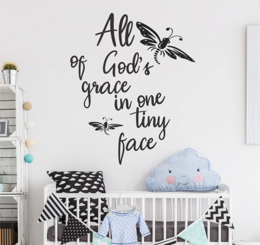 God's grace - sticker decorativ