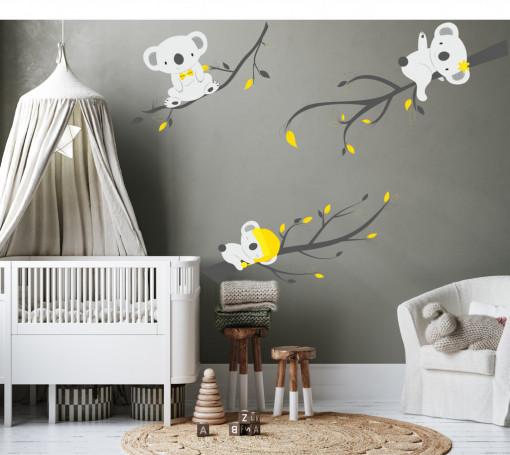 Koala acrobati - sticker perete pentru copii