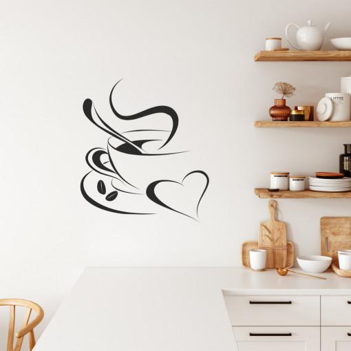 """Sticker perete """"Coffee with love"""""""