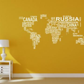 Harta lumii text