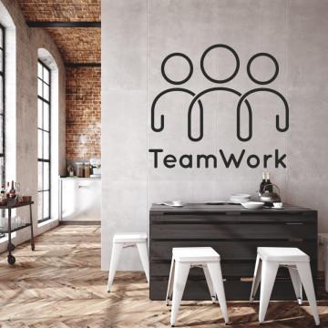 Lucrul in echipă - sticker decorativ