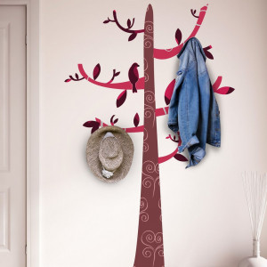 Sticker Colourful Pattern Tree Hook