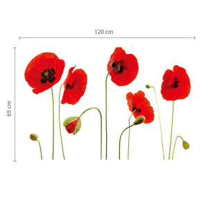 Poze Sticker Red Poppy Flowers