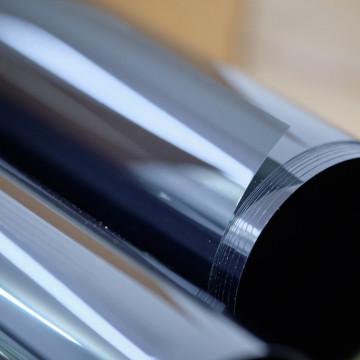 Folie de protectie solara 83%, cu efect de oglinda, pentru exterior
