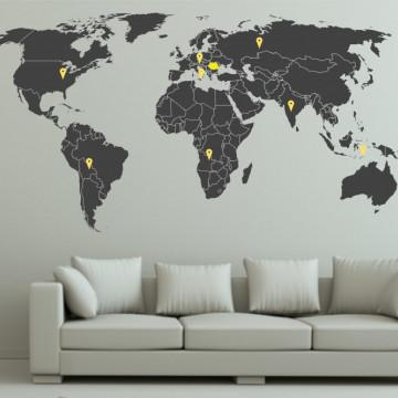 Harta cu tari