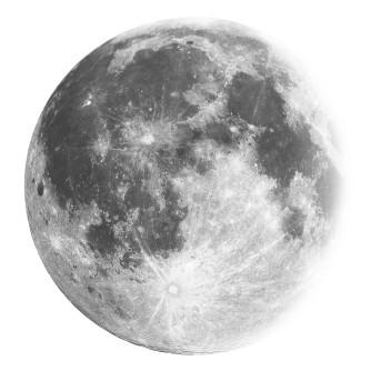 Moon- sticker decorativ