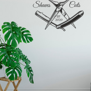 Sticker barber shop
