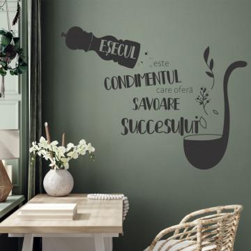 Sticker decorativ - Esecul si Succesul