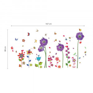 Poze Sticker Purple Flower and Colourful Flower