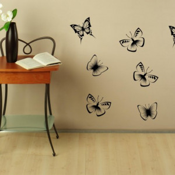 Colectie fluturi pentru perete