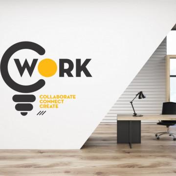 Work - sticker decorativ pentru birou