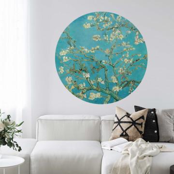 Flori de migdal - sticker rotund