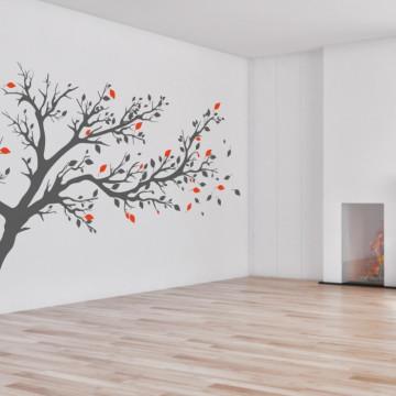 Copacul cu frunze colorate - sticker decorativ
