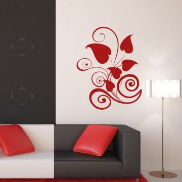 Floare de inima rosie