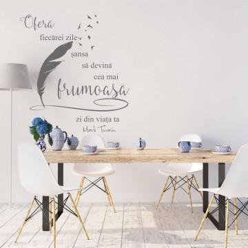 Frumusetea fiecarei zile - sticker decorativ text