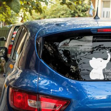Sticker auto - elefantel
