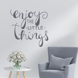 Enjoy little things