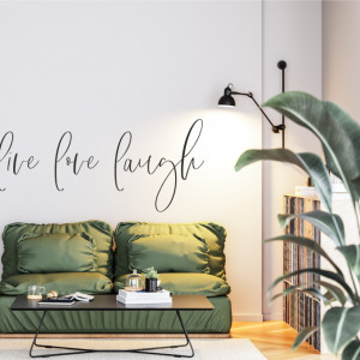 Live, Love, Laugh - sticker decorativ