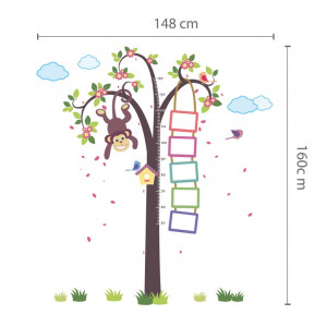 Poze Sticker Nursery Monkey Height Measure