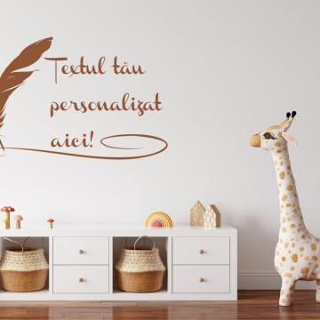 Sticker text pentru perete - personalizat