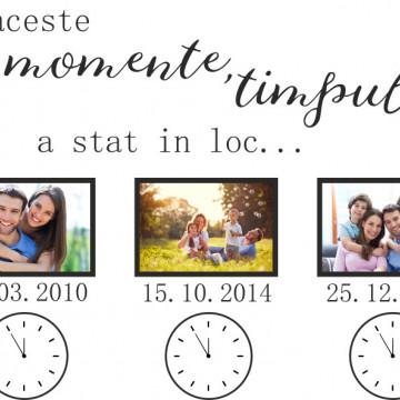Timpul a stat in loc- sticker decorativ