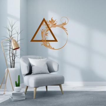 Triunghiul cu flori