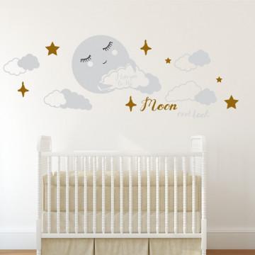 Luna si noi - sticker decorativ pentru copii