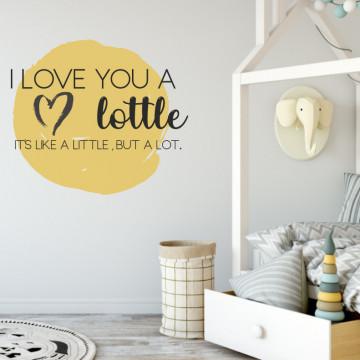 Sticker perete- Mesaj pentru cei mici si cei mari
