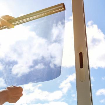 Folie de protecție solara 75%, cu efect de oglinda, pentru interior